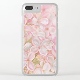 The Essence of Spring- Pink Lilac Flower Clear iPhone Case