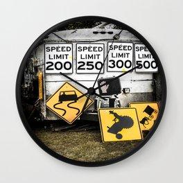 Speed Limit Ahead Wall Clock