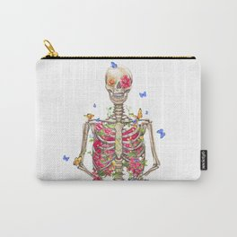 Blooming skeleton on the white background  Carry-All Pouch
