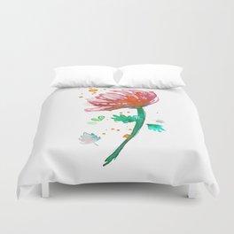 Warm Watercolour Fiordland Flower Duvet Cover