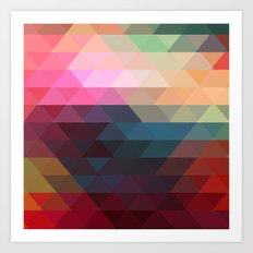 Retro Triangles  Art Print