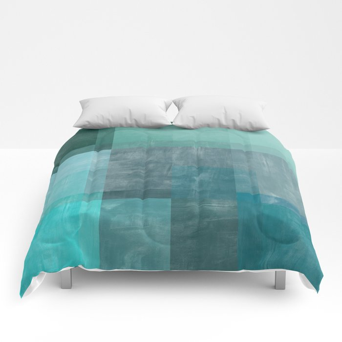 Blue Abstract | No. 1 Comforters