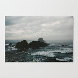 Crashing Waves on Cannon Beach Oregon Canvas Print