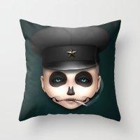 misfits Throw Pillows featuring Misfits - Svetlana by Raymond Sepulveda