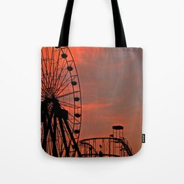 Sundown in Fun Town Tote Bag