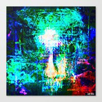 """hologram Canvas Prints featuring """" The voice  is a second face"""" by shiva camille"""