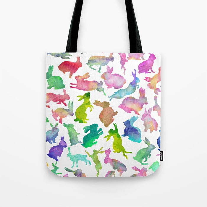 Watercolour Bunnies Tote Bag