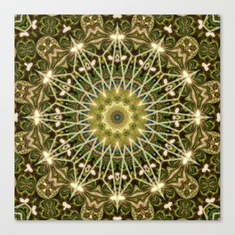 Geometric Forest Mandala Canvas Print