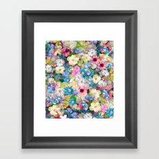 Pastels & Blue Bouquet Framed Art Print