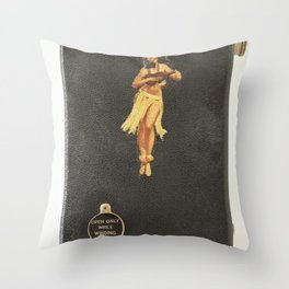 Hula Only While Winding Throw Pillow