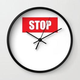 Stop Wondering Start Making Motivational T-Shirt Wall Clock