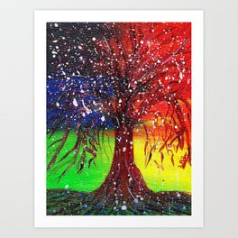 Magic Dew Drop Tree Art Print