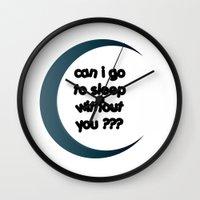 sleep Wall Clocks featuring Sleep by Cs025