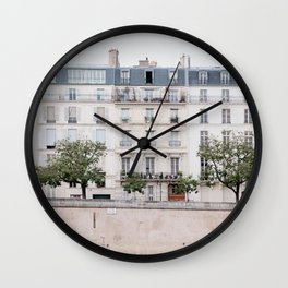 Seine River - Paris France, Architecture, Travel Photography Wall Clock