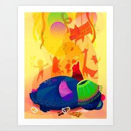 Happy Party, Happy Bear Art Print