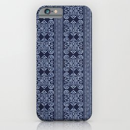 Thai Indigo Batik 6 iPhone Case