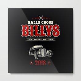 Balls Cross Metal Print