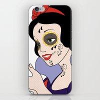 snow white iPhone & iPod Skins featuring Snow White  by mark ashkenazi