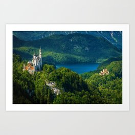 Neuschwanstein Castle - Allgau - Bavaria, Germany Art Print