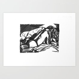 Female Nude Body 2  Art Print