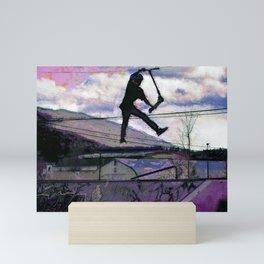 Deck Grab Champion - Stunt Scooter Art Mini Art Print