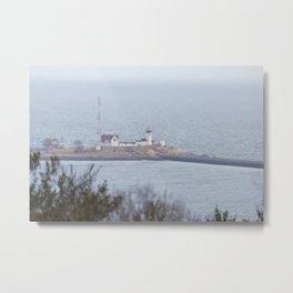 Foggy Eastern Point Lighthouse Metal Print