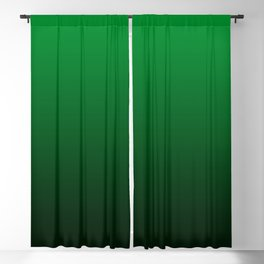 Deep Green to Black Gradient Blackout Curtain