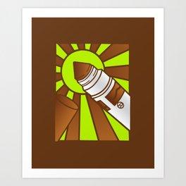 Brown Crayola Marquer Art Print