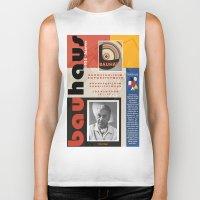 bauhaus Biker Tanks featuring Bauhaus Poster by ThatGeorgeGuy