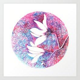 First magnolias Art Print