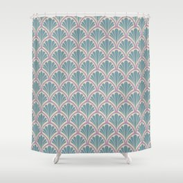 Vintage Art Deco Seashell - Sweet scent of lavender Shower Curtain