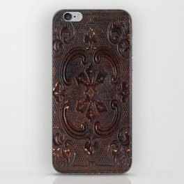 Ancient Leather Book iPhone Skin