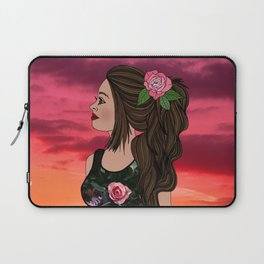Rosa and Her Mexican Sunset Laptop Sleeve