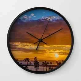 Between the Clouds and Catalina Wall Clock