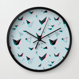pattern no.1 / geometric neon Wall Clock