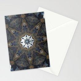 Ice and Rock Kaleidoscope Mandala Stationery Cards