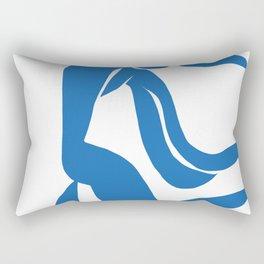 Matisse Cut Out Figure #4 Light Blue Rectangular Pillow