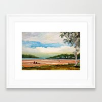 cleveland Framed Art Prints featuring Cleveland by Helen Syron