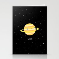 saturn Stationery Cards featuring Saturn by Sarah Crosby