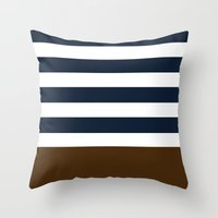 league Throw Pillows featuring ivy league by Huntleigh