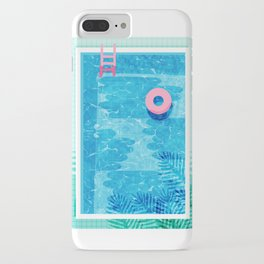 Chillin' - poolside palm springs vacation resort tropical swim swimming retro neon throwback 1980s iPhone Case