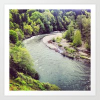 Hood River Oregon Art Print