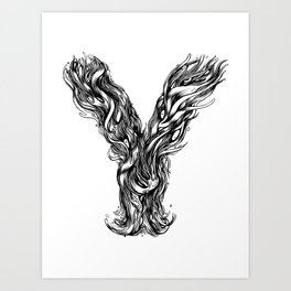 The Illustrated Y Art Print