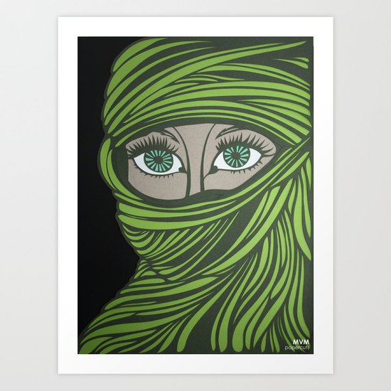 veiled Art Print