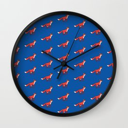Fox in the night Wall Clock