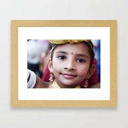 Girl, Udaipur, India Framed Art Print