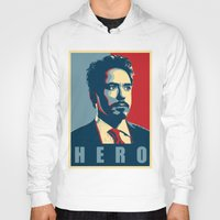 tony stark Hoodies featuring Tony Stark by Cadies Graphic