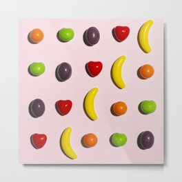 Eat Your Fruit Metal Print