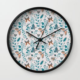 Insects and Moths Frolicking in the Day Wall Clock