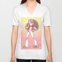 bee and puppycat V-neck T-shirts featuring Bee costume redesign by Parapoozle